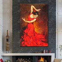 New Design Beautiful Dance Women Oil Painting Living Room Wall Pictures Modern Canvas Wall Art Figure Painting No Framed