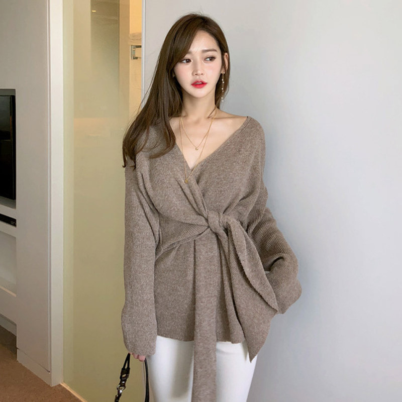 Winter New Fashion Women Thick Outdoor Simple Cute Knitted Sweater New Arrival Comfortable Basic Loose Warm Fresh Sexy Sweater