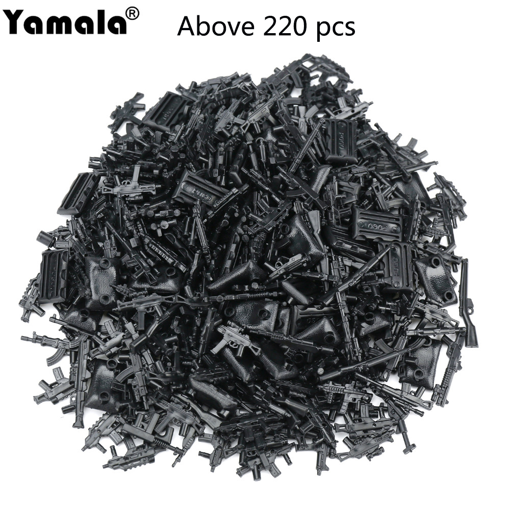 Yamala Military Swat Police Gun Weapons Pack Army Soldiers Building Blocks MOC Arms City Police