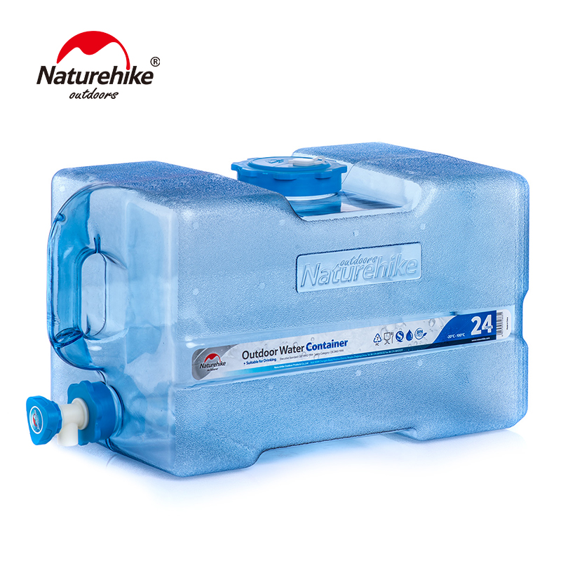 Naturehike NH18S024-T Portable BPA Free Water Carrier Water Storage Container Beverage Dispenser Hydration Bucket Picnic Camping naturehike factory store outdoor collapsible water container folding bucket storage pe food grade camping foldable water bag