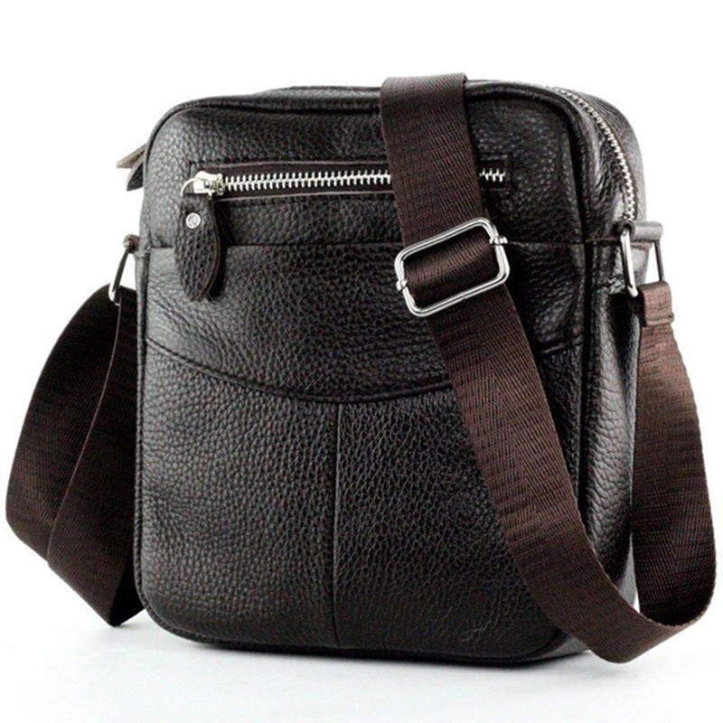2016 Fashion brand small men bag high quality men's Messenger Bag Genuine Leather Retro Brown men bags Business shoulder bag limited buying mini casual bags multifunction leather messenger bag men s fashion pocket brown brand of small bags high quality