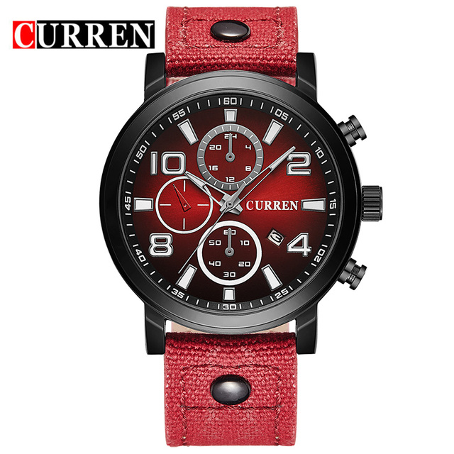 Relojes Hombre 2016 Fashion Casual Curren Luxury Brand Men Watches Men's Quartz Clock Male Business WristWatch relogio masculino