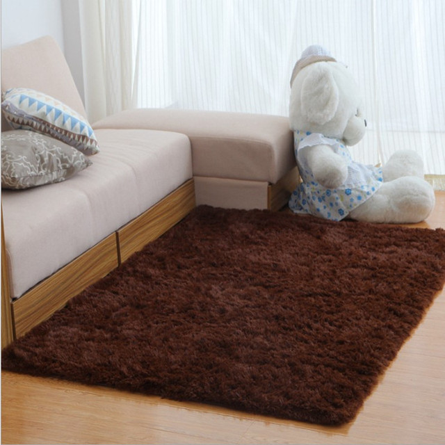 Long Plush Slip Resistant Soft Mat For Room Large Shaggy