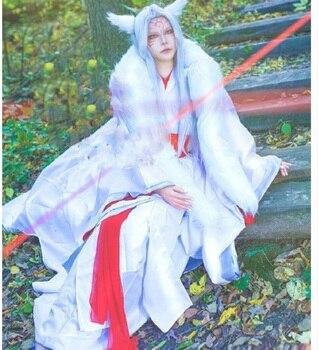 Chen Wei Personification White Fur Collar Male Costume Hanfu Cat Fox Fairy Costume Hanfu Cos Natsume Yuujinchou Japanese Anime