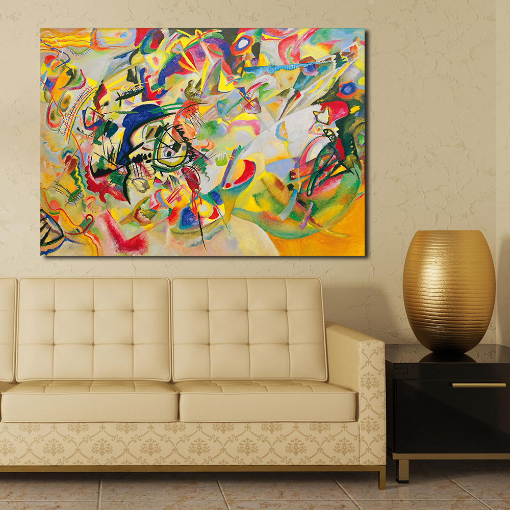 JQHYART Abstract Art Wall Pictures For Living Room Painting Canvas ...