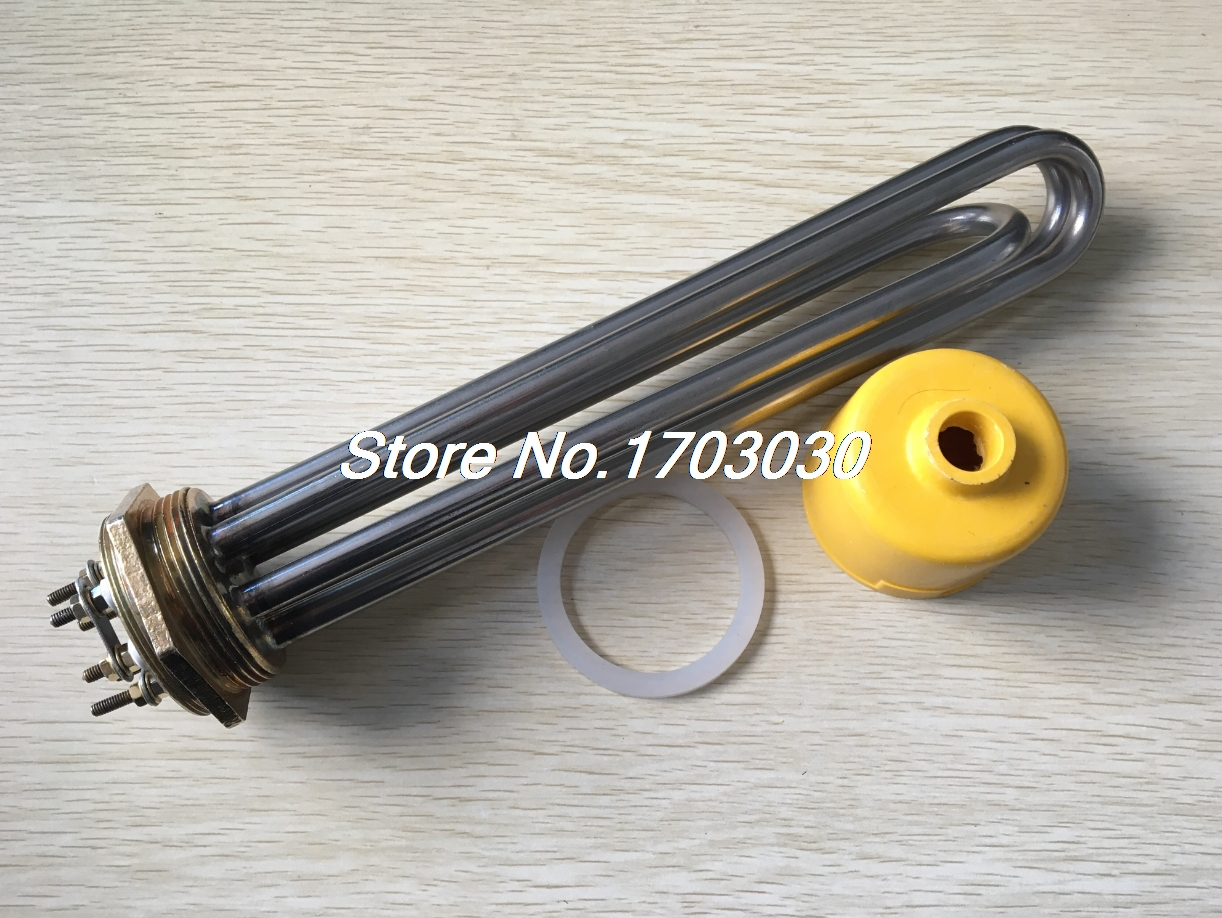 3U Bundle 2 Thread Electric Tubular Water Heater Element AC380V 12000W free shipping bundle electric water tank boiler heating element heater 380v 12000w