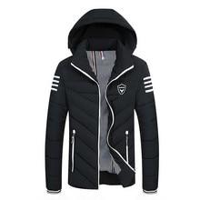middle-aged cotton men's long section plus cashmere thickening cotton men's feather cotton jacket large size coat winter