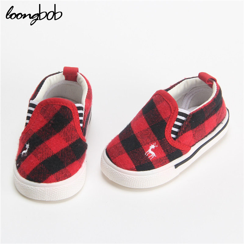 Baby Shoes Spring Autumn Baby Girls Boys Shoes Kids Children Plaid Cotton Soft Breathable Shoes For Boys Girls