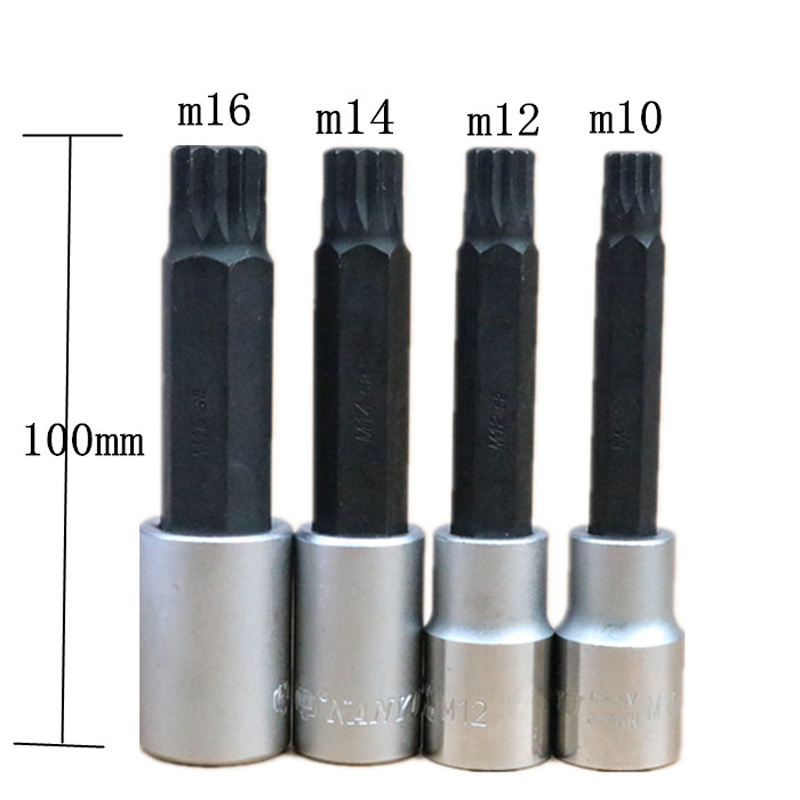1 2 s2 alloy torx screwdriver bits set 12 point spline socket bit set m10 m12 m14 m16 with. Black Bedroom Furniture Sets. Home Design Ideas