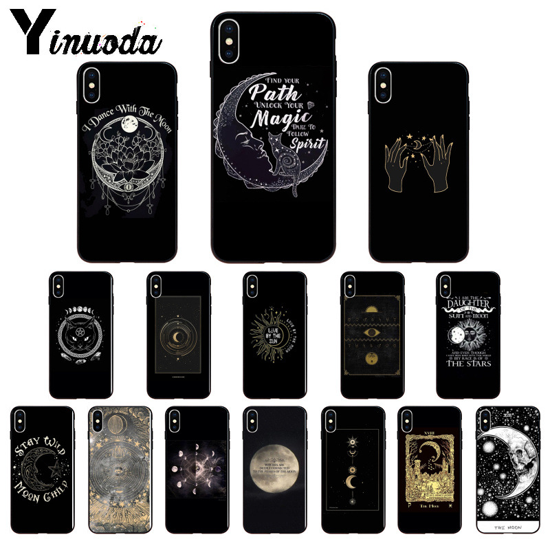 Frugal Yinuoda Augur Moon Tarot Divine Silicone Soft Tpu Black Phone Case For Iphone 6s 6plus 7 7plus 8 8plus X Xs Max 5 5s Xr Cheap Sales Cellphones & Telecommunications