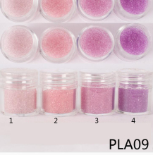 1 Box 10g Caviar Beads Transparent Pink/Purple Glass .6mm - .8mm Micro Crystal Bead New AB Glitter