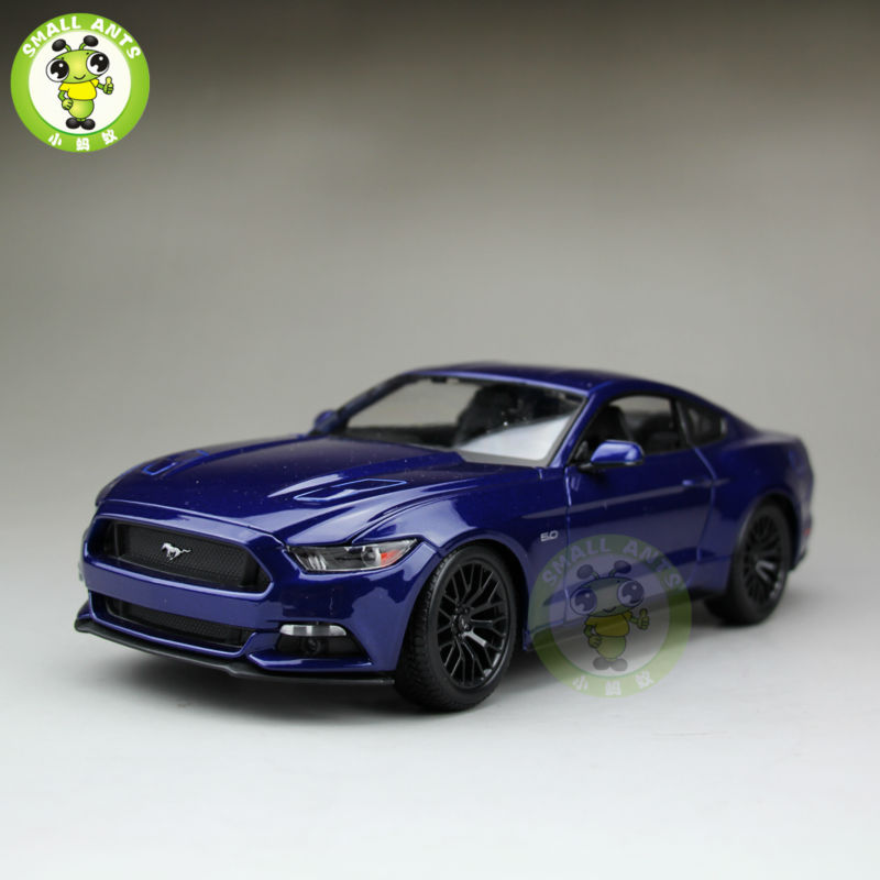 1 18 2015 Ford Mustang GT 5 0 diecast car model for gifts collection hobby Blue
