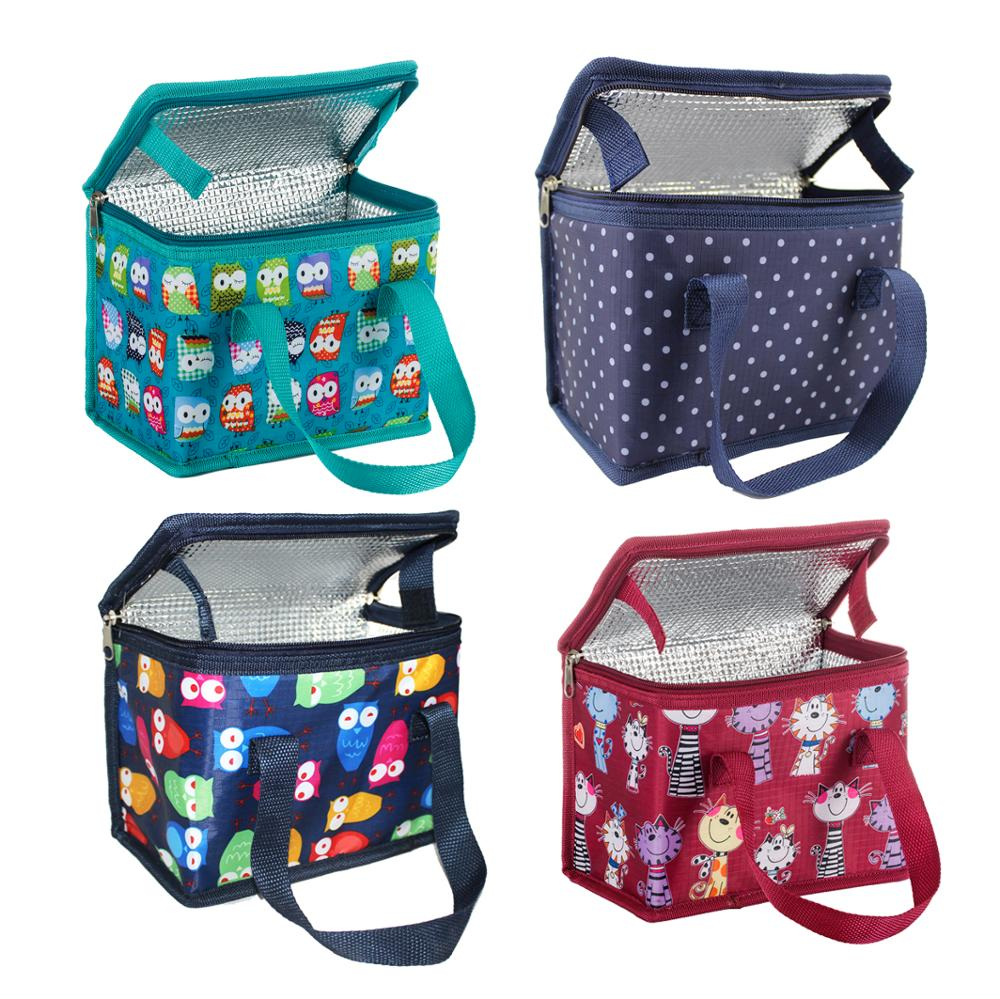 TEAMOOK 4 Patterns Portable Oxford Lunch Bag Thermal Insulated Lunch Box Food Picnic Lunch Bags For Women Kids Cooler Bag