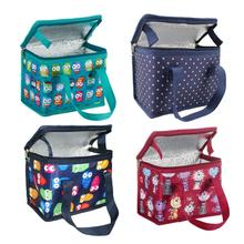 TEAMOOK 4 patterns Portable Oxford Lunch font b Bag b font Thermal Insulated Lunch Box Food