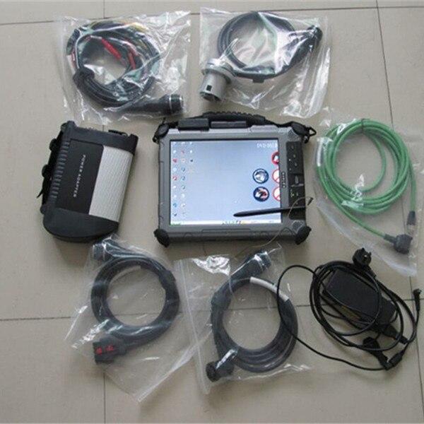 Mb star c4 диагностический сканер для автомобиля benz и грузовика с 2018,09 программного обеспечения ssd с ноутбуком tablet xplore ix104 i7 4G прочный ПК