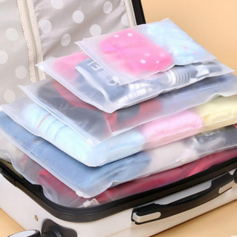 5PCs/Set PVC Luggage Packing Organizer Bags Women Men Travel Accessories Storage Bag Portable Waterproof Cosmetic Washing Pouch