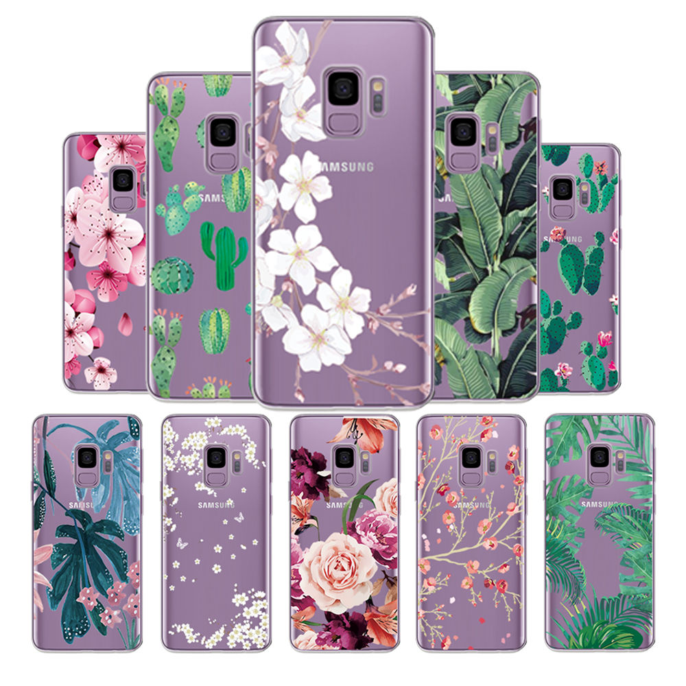 Dutiful Painted Fundas For Samsung Galax S5 S6 S7 S8 S9 Soft Tpu Phone Cover For Samsung S6 Edge S8 Plus S9 Plus Clear Silicone Cases Beautiful In Colour