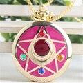 [PCMOS] 2017 Nuevo Anime Sailor Moon Vida Con Sailor Moon Crystal Estrella Reloj de Bolsillo Collar Cos Envío Libre 16051805