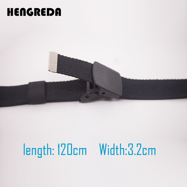 Canvas Waist Fashion Plastic Buckle Casual Cowboy Black Belts 2