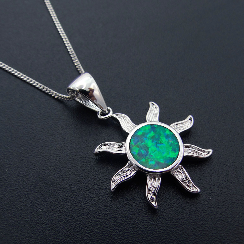 18/'/' SQUARE GREEN OPAL NECKLACE PENDANT /& EARRING SET //925 STERLING SILVER