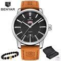 2019 NEUE Luxus Marke BENYAR Männer Sport Uhren herren Quarz Uhr Mann Armee Military Leder Blau Armbanduhr Relogio masculino