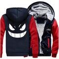 Anime Unisex Thicken Hoodie Zipper Coat Pokemon go Gengar Pocket Monsters Jacket Sweatshirts New
