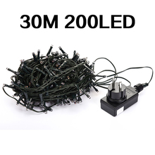 Low Voltage DC24V Waterproof Fairy Holiday Lighting String 30M 200Led for Christmas Decorations 4 Color Free Shipping