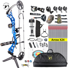 Ship From USA Topoint Archery Trigon Compound Bow Full Package,CNC Milling Bow Riser,USA Gordon Composites Limb,BCY String topoint archery compound bow package t1 cnc milling bow riser 19 30in draw length 19 70lbs draw weight 320fps ibo