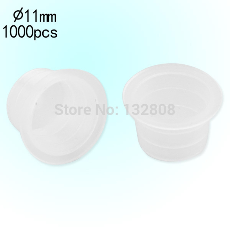 1000pcs Plastic Tattoo Ink Cups Caps 11mm Clear Medium Classic Without Base Ink Caps Tattoo Pigment Cups Supply Free Shipping