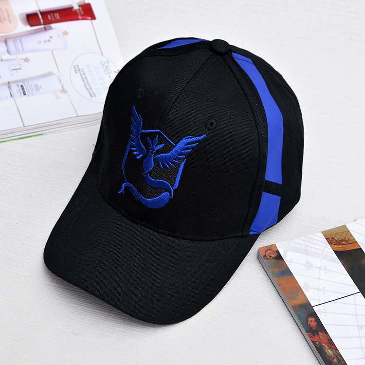 Dropwow Pokemon Go Cap Hat Team Valor Team Mystic Team Instinct ... 238da57111e9