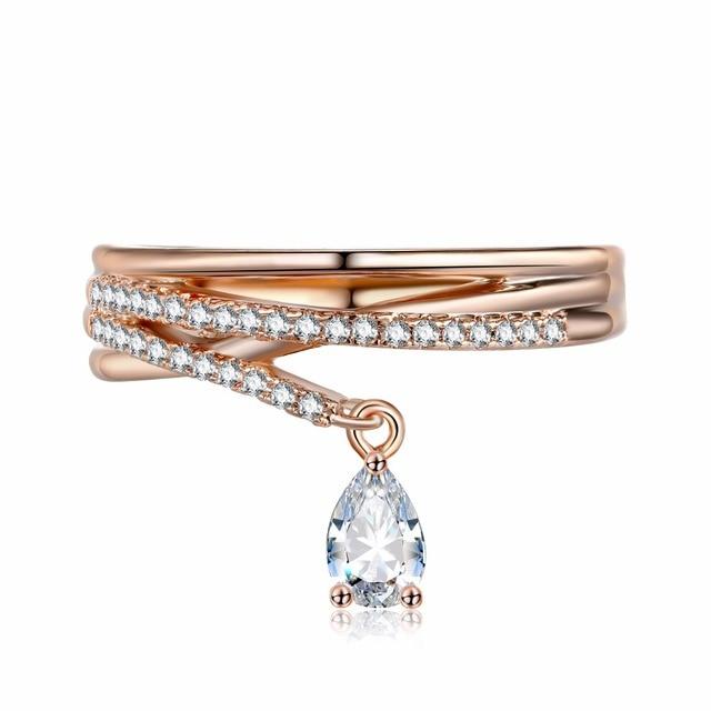 KISS WIFE Fashion Jewelry Multilayer Cross Crystal Cubic Zirconia Water Drop Pen