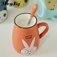 400ml Cartoon Ceramic Cup Milk Coffee Tea Mug Cute Animal Cup Home Office Handle Drinkware Supplies