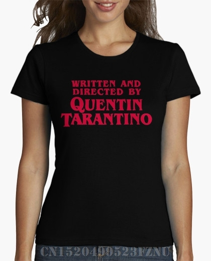 2017 preço Surpresa t camisa Quentin Tarantino curtas das mulheres O pescoço De Malha palácio Impressão