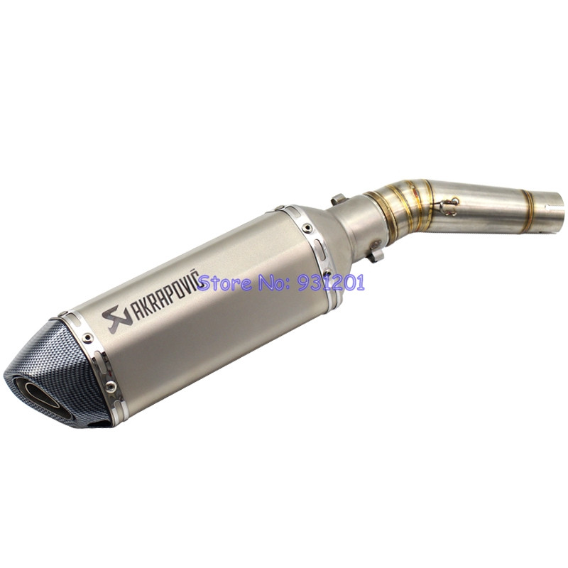 Motorcycle Slip On NC700 NC700X NC700S NC750 NC750X NC750S Connect Mid Link Pipe with Akrapovic Exhaust Pipe Muffler (2012-2017)Motorcycle Slip On NC700 NC700X NC700S NC750 NC750X NC750S Connect Mid Link Pipe with Akrapovic Exhaust Pipe Muffler (2012-2017)