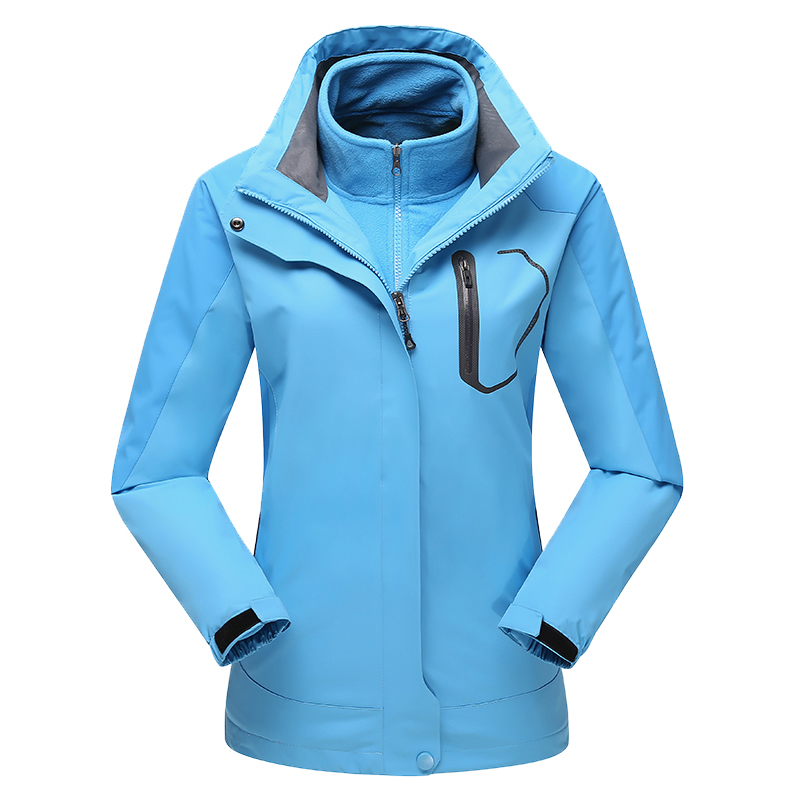Tactical Mountain Wear Jacket Thermal Windstopper Outdoor Hiking Women Camping Clothes 3 In 1