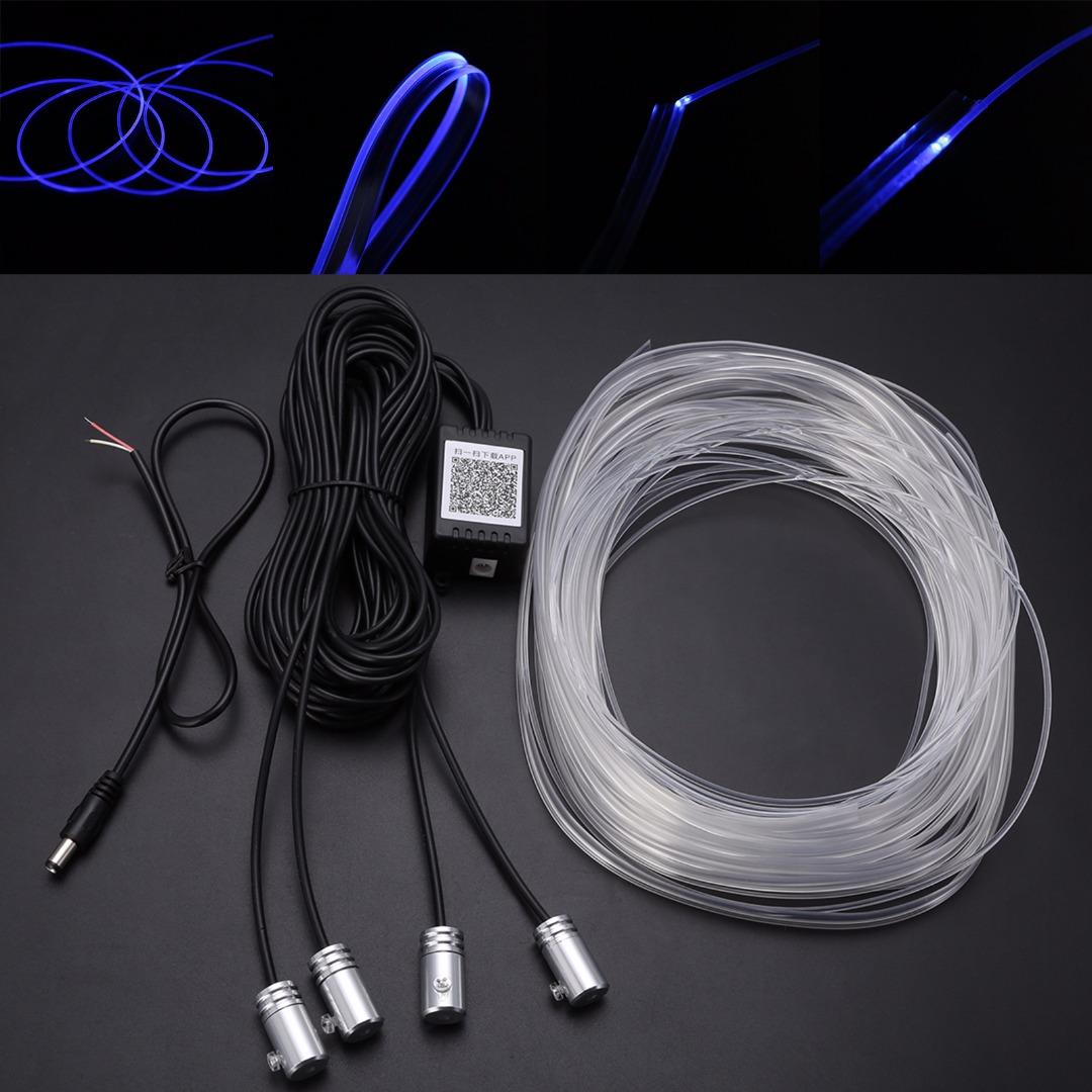 New 1 Set Colorful RGB LED Car Interior Neon EL Wire Strip Light ...