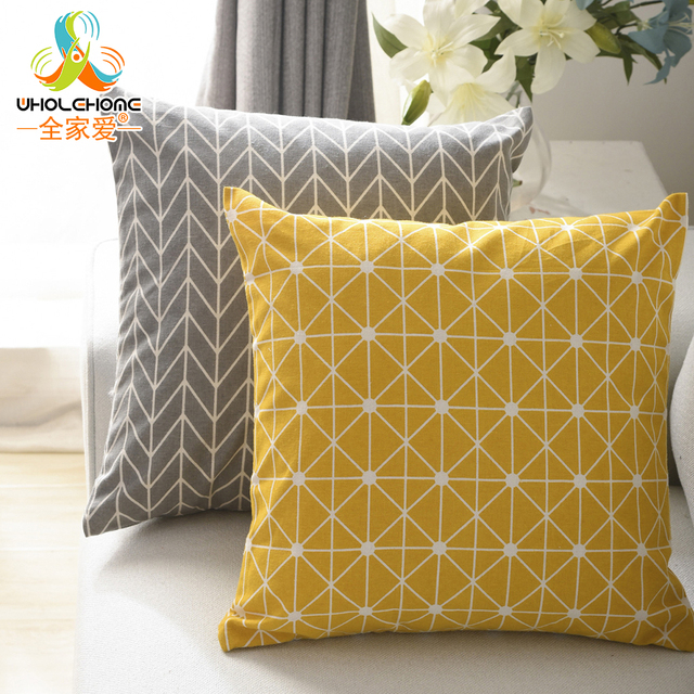 Geometrica Plaid Cuscino Decorativo Gettare la Copertura Federe Morbido 45*45 cm