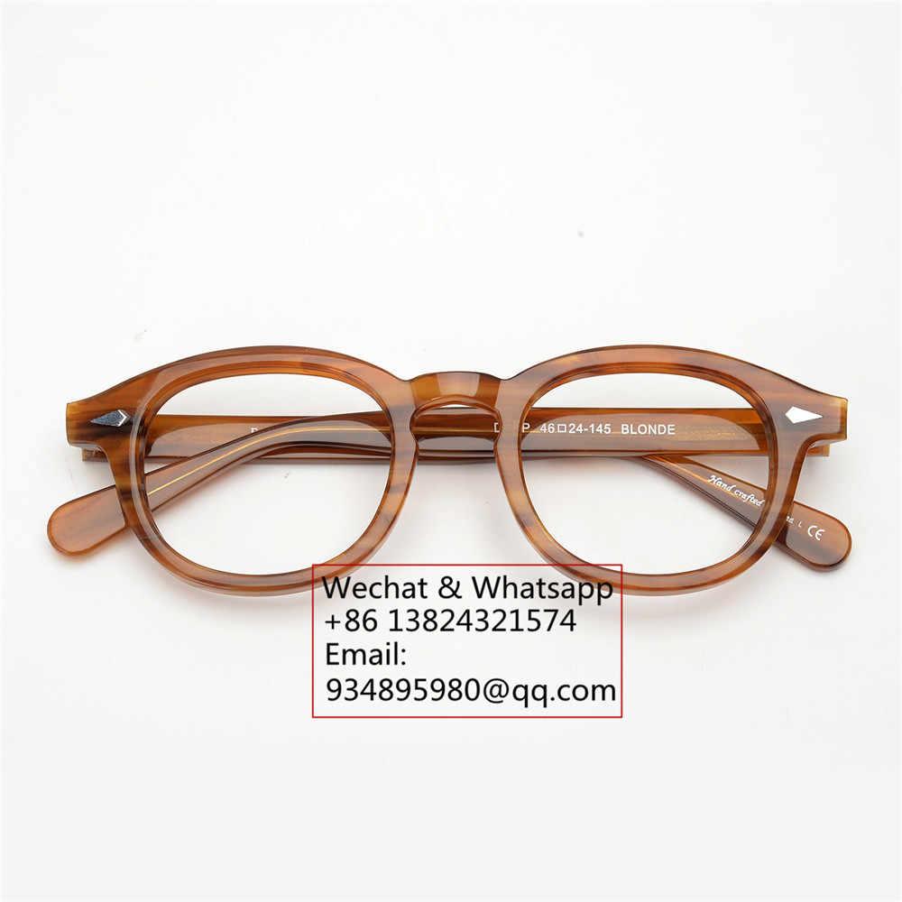 67465adbf1 ... EyeGlow Johnny Depp lemtosh same style acetate optical eyeglasses  frames men and women retro myopia prescription ...
