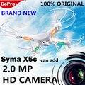 Original SYMA X5C X5C-12.4G Actualización de 2.4G 4CH 6-Axis dron RC Helicóptero drones con Cámara hd RC Drone Quadrocopter con cámara
