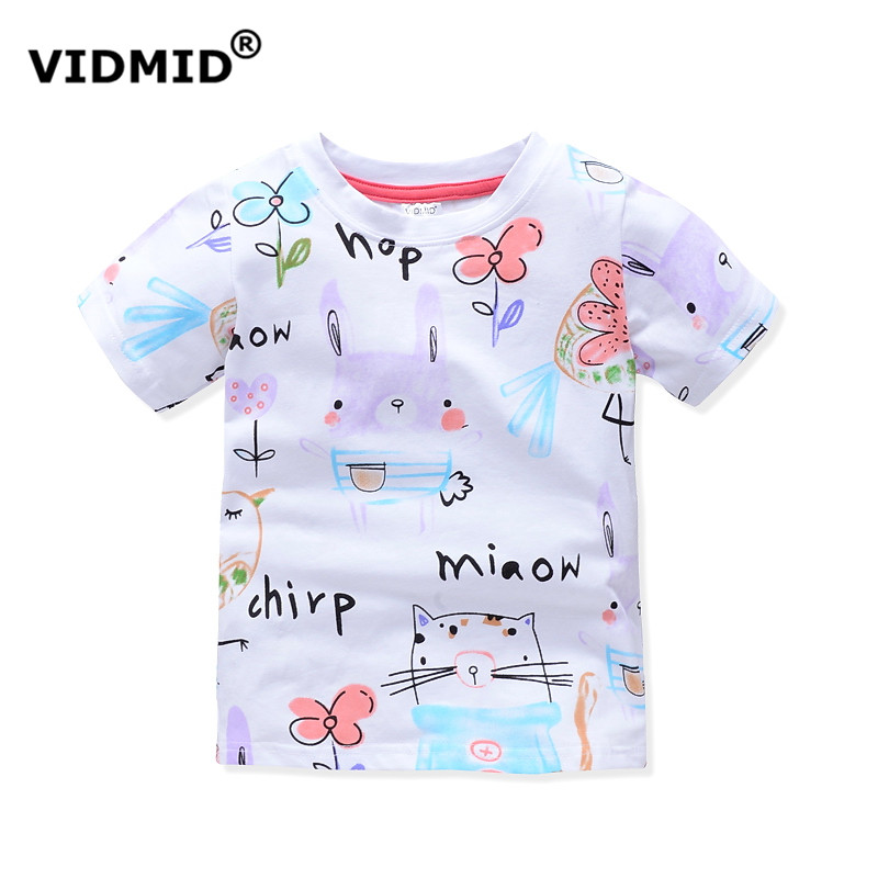 HTB1HniiPXXXXXcraXXXq6xXFXXXs - VIDMID baby Girl t-shirt big Girls tees t shirts children blouse t-shirts super quality kids summer clothes rabbit pink brand