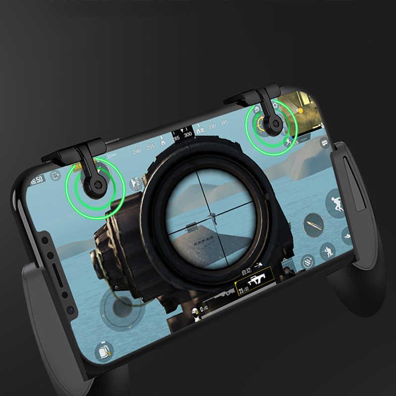 2 sztuk Gampad wyzwalacz gier s mobilna gra przycisk spustu celuj telefon spust do gier na telefon komórkowy L1R1 kontroler strzelanek