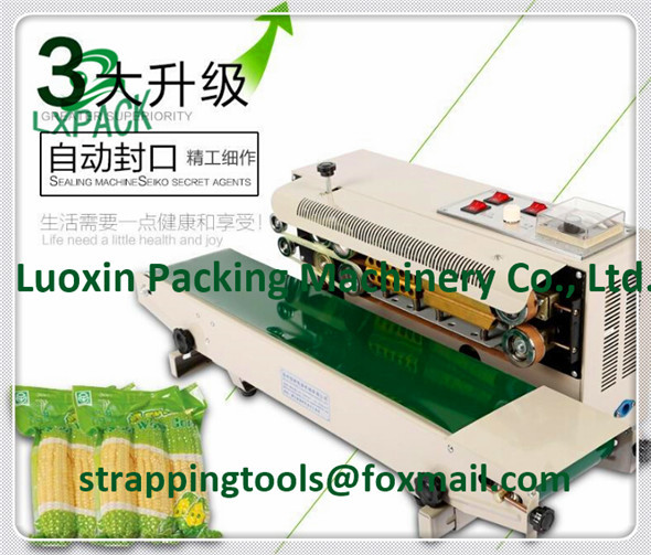 LX-PACK brand Lowest Factory Prices Powder coated horizontal band sealer standard embossing kit solid state temperature control buckwheat bee pollen flower powder at factory prices 1kg
