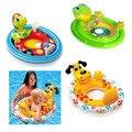 Anillo del asiento del bebé del bebé de natación vueltas los niños de dibujos animados bebé bote inflable anillo de la natación para niñas niños