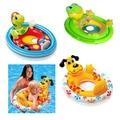 Assento do bebê anel bebê natação voltas barco inflável dos desenhos animados do bebê dos miúdos das crianças anel de natação para meninos das meninas