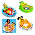 baby seat ring baby swimming laps cartoon baby boat inflatable boat children kids swimming ring for girls boys