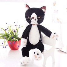 new arrival about 40cm black& white cat plush toy cat doll soft pillow toy,birthday present Xmas gift c920
