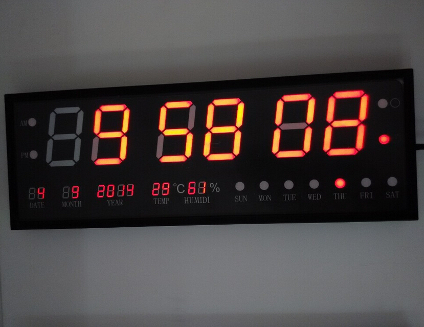 Diy Can Customized Led Wall Clock Large Size Digital Clock Display