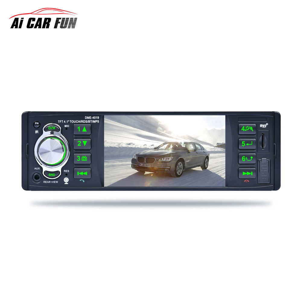 4.1-inch Touch Screen Car Stereo Radio Audio Bluetooth Handsfree MP5 Player Support Rear View Camera RDS AUX Function car radio audio stereo with 2usb bluetooth tf fm mp4 player touch screen support rear camera hot sale 2din 6 2 inch