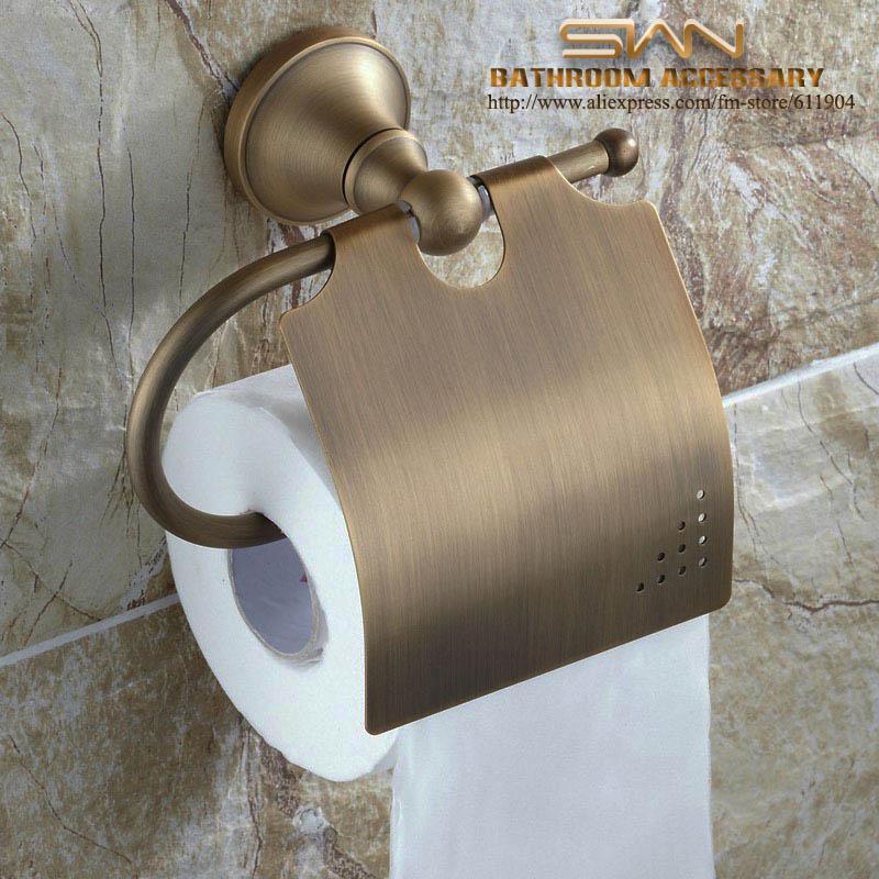 ФОТО Vintage Brass Bathroom Hardware Toilet Tissue Paper Roll Holder 3311201
