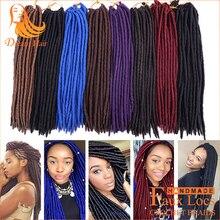 "14"" 18"" Faux Locs Faux Locs Crochet Dread Braid Hair 24 Roots 100g Fauxlocs Crochet Synthetic Hair Extensions for Black Women"